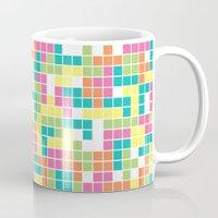 tetris Mugs featuring Tetris by Alisa Galitsyna