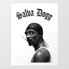 Salva Dogg Art Print