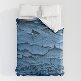 Blue cracked paint Comforters