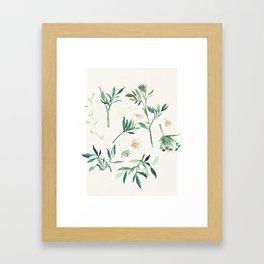 disheveled greens Framed Art Print