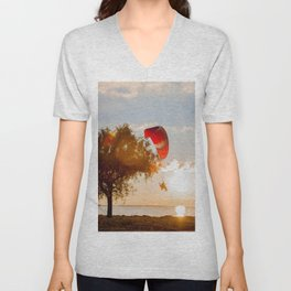Grand Escape on Summer Sunset Unisex V-Neck