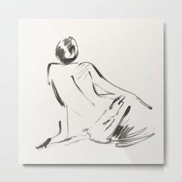 nude woman Metal Print