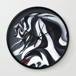 Grey Girl Wall Clock