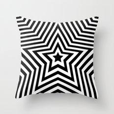 Stars - black & white vers. Throw Pillow