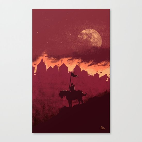 A Rather Dramatic Point in a Story Canvas Print