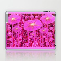 Girly Pink Rain Floral Morning Glories Art Design Laptop & iPad Skin