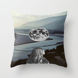 Moon Valley Dreaming Throw Pillow