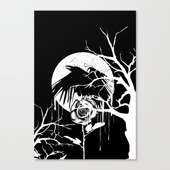 Raven and Rose Canvas Print