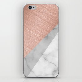 Rose Gold and Marble iPhone Skin