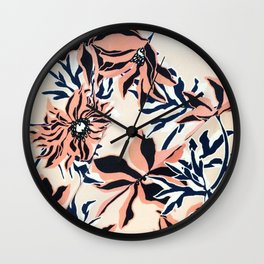 Graphic Floral Duvet Cover Wall Clock