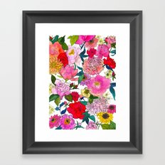 Peonies & Roses Framed Art Print