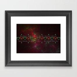Nebula Christmas Framed Art Print