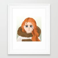 ygritte Framed Art Prints featuring Ygritte by Matti