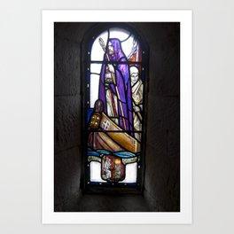St. Columba in St. Margaret's Chapel Art Print