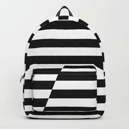 Black and White Offset Stripes Backpack