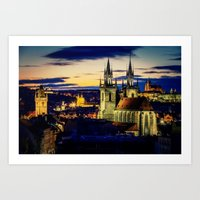 prague Art Prints featuring Prague by EclipseLio