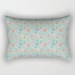 Sweet Peas and Shastas Aqua Rectangular Pillow