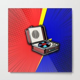 The energy of vinyl Metal Print
