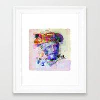 pablo picasso Framed Art Prints featuring Pablo Picasso by Steve W Schwartz Art