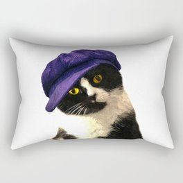 Cat Blue Hat Rectangular Pillow