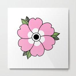 Traditional Blossom Metal Print