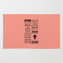 Lab No. 4 - Swami Vivekananda Inspirational Typography Quotes Poster Rug
