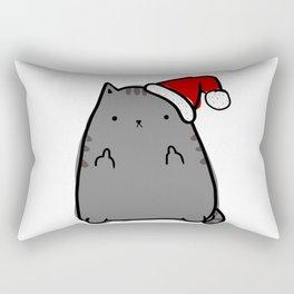 Christmas Cat Double Bird Rectangular Pillow