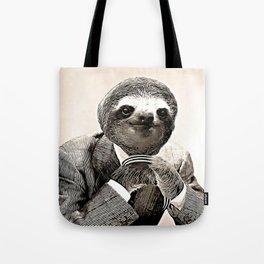 Gentleman Sloth in Smart Posture Tote Bag