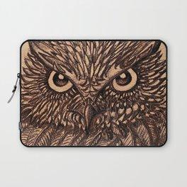 Fierce Brown Owl Laptop Sleeve
