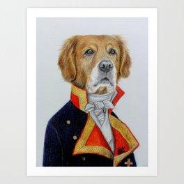 dog king Art Print