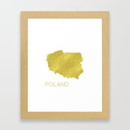 Poland map Framed Art Print