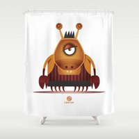 cancer Shower Curtains featuring CANCER by Angelo Cerantola