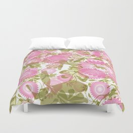 Pink and Green  Duvet Cover