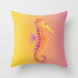 Sunset Seahorse Throw Pillow
