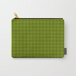 Large Slime Green and Black Hell Hounds Tooth Check Carry-All Pouch