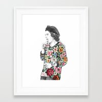 coconutwishes Framed Art Prints featuring Harry  sketch  by Coconut Wishes