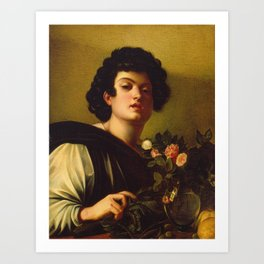 Caravaggio - Boy With A Carafe Of Roses Art Print