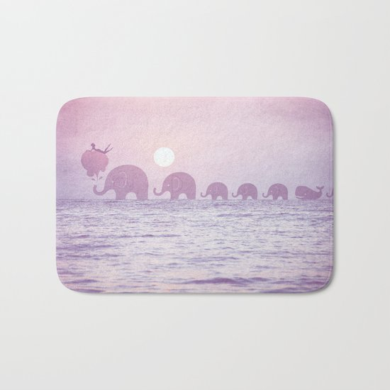 Elephants - a dream walk Bath Mat
