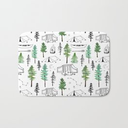 Camping and Trees Bath Mat