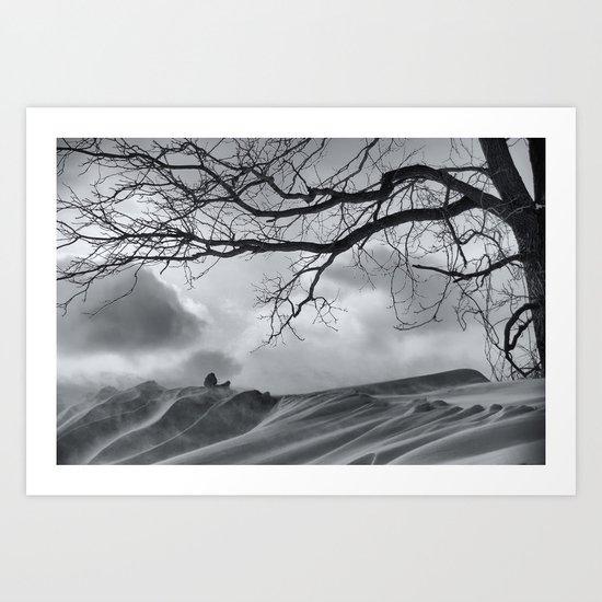 Chilling Wind Drifting Snow  2009 Art Print