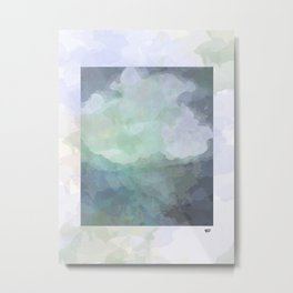Dreams #watercolor #blue #minimal #design #kirovair #decor #buyart Metal Print