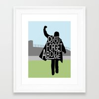 the breakfast club Framed Art Prints featuring The Breakfast Club by Hugh & West