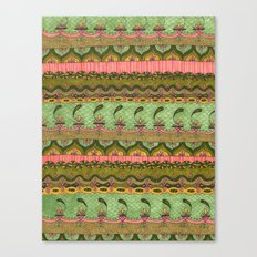 Pink and Green Pattern Canvas Print
