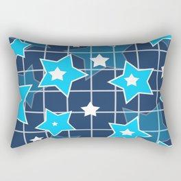 Light blue stars Rectangular Pillow