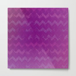 Magenta Jewel Tone and Chevrons Metal Print