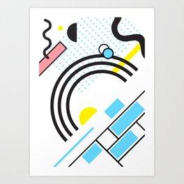 Memphis Style Art Print