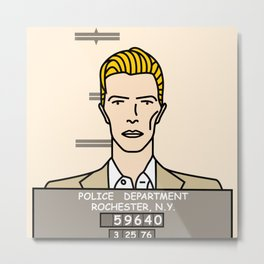 David Bowie – Bowie Mug Shot Metal Print