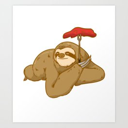 grill barbeque sloth Art Print