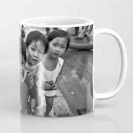 Vietnamese Children with a goldfish  Coffee Mug