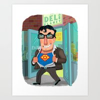 jewish Art Prints featuring Jewish Superman by Joe Rocco